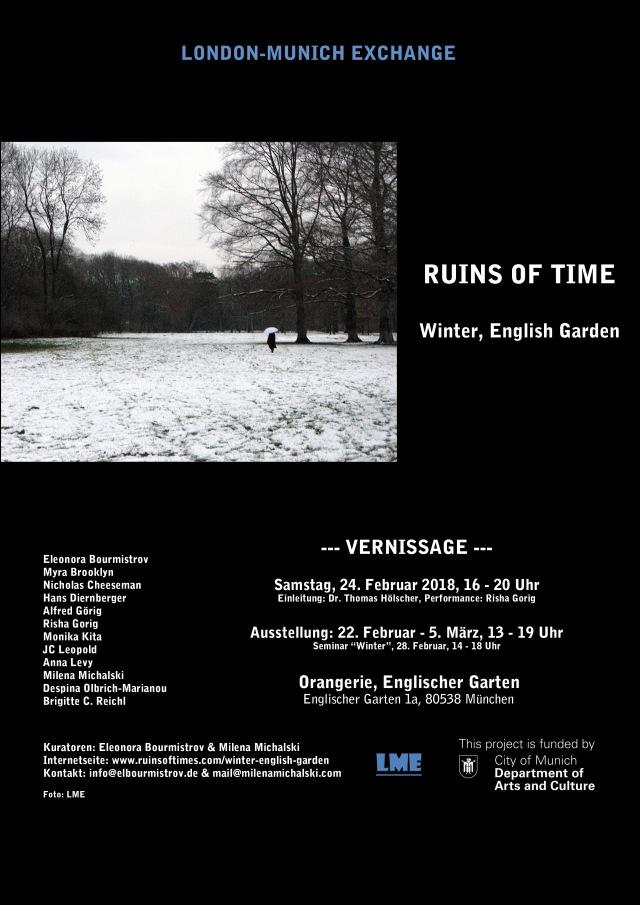 Poster Winter-English Garden